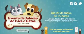 Evento de Adoção de Cães e Gatos – 22/04