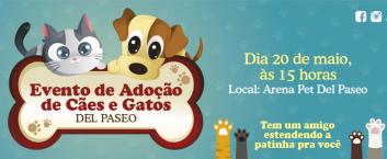 Evento de Adoção de Cães e Gatos – 20/05
