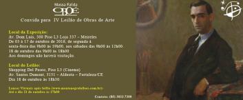 IV Leilão de Obras de Arte – Oboé