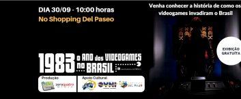 """Exibição do Documentário """"1983: O ano dos videogames no Brasil"""""""